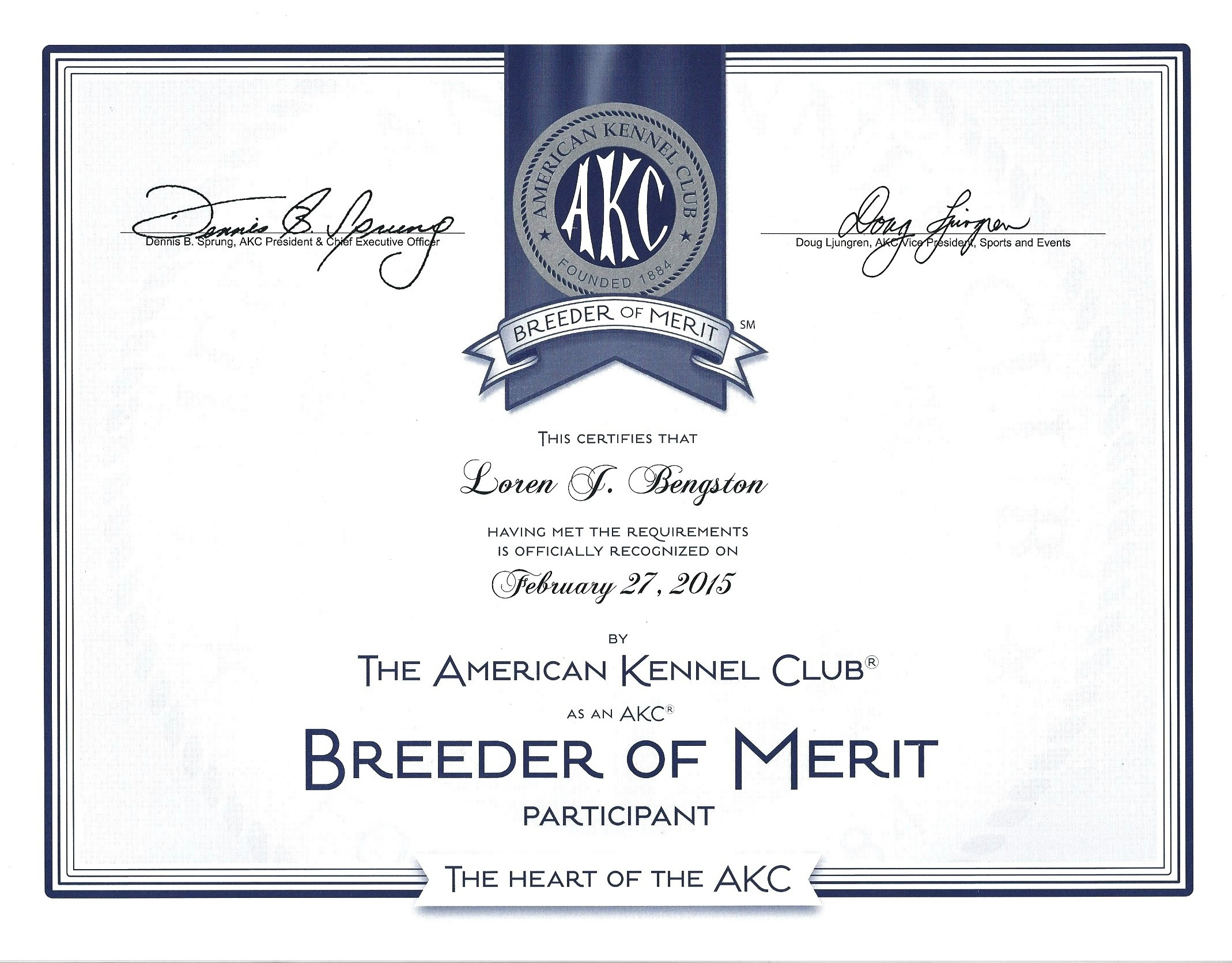 ... Of Merit Program And Have Been Officially Recognized By Them! We Have  Each Received A Certificate As Well As A Banner For Our Website.  Merit Certificate Comments